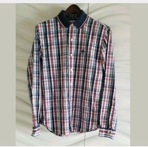 Brooks Brothers Plaid Polo Shirt Long Sleeve SizeM